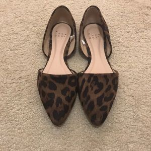 A New Day Leopard pointed flats
